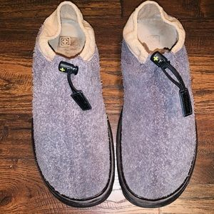 RARE DR MARTENS HAIRY SUEDE CANVAS SLIP ON LOAFERS